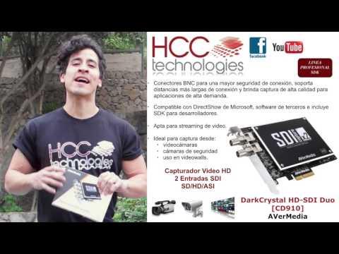 Capturadora de Video con 2 entradas SDI HD SD ASI SDK AVerMedia DarkCrystal HD SDI Duo CD910