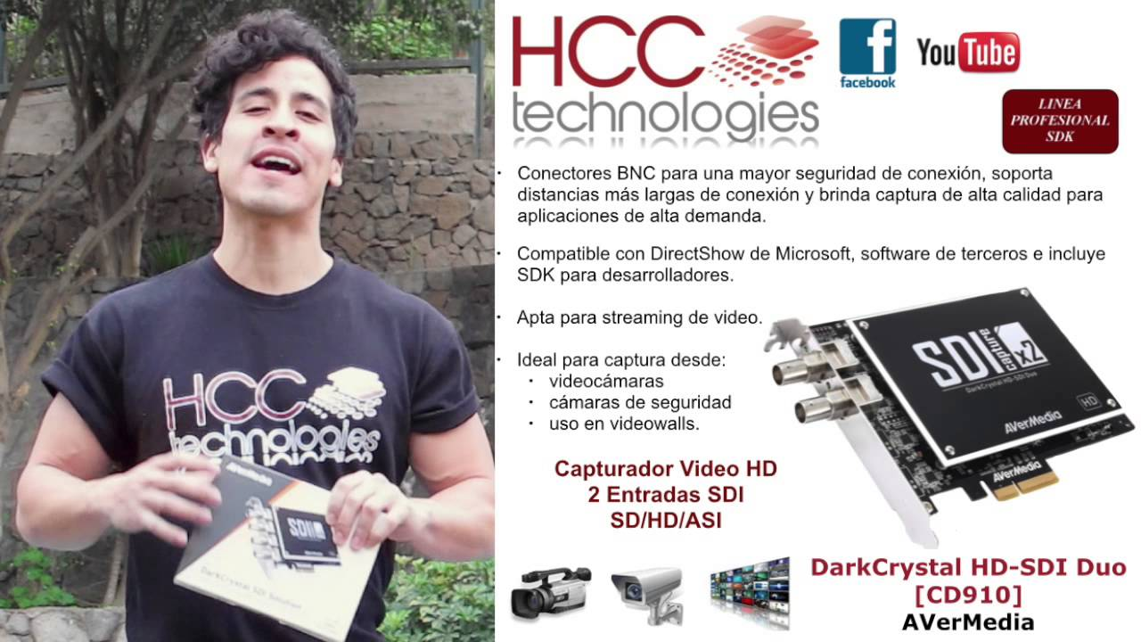 Capturadora de Video con 2 entradas SDI HD SD ASI SDK AVerMedia ...