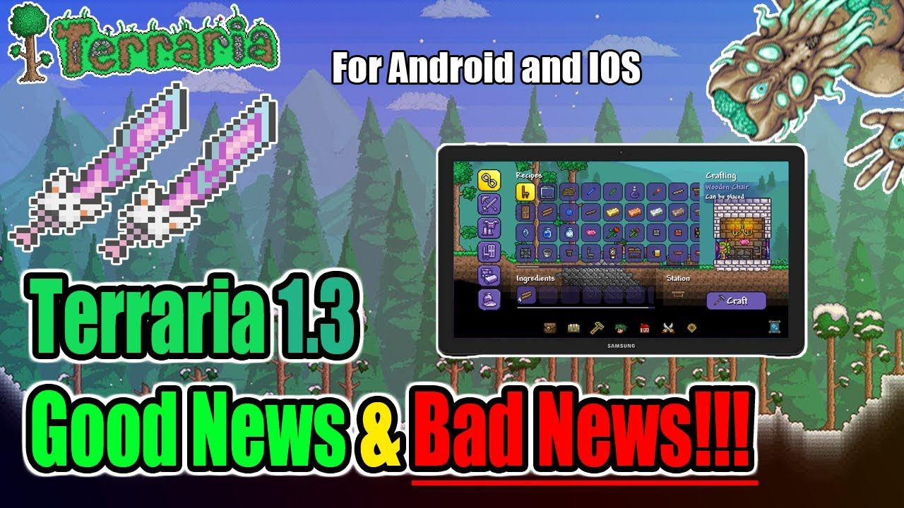 Terraria 1 3 MOBILE UPDATE - THE GOOD AND THE BAD ABOUT TERRARIA 1 3 FOR  MOBILE!!!
