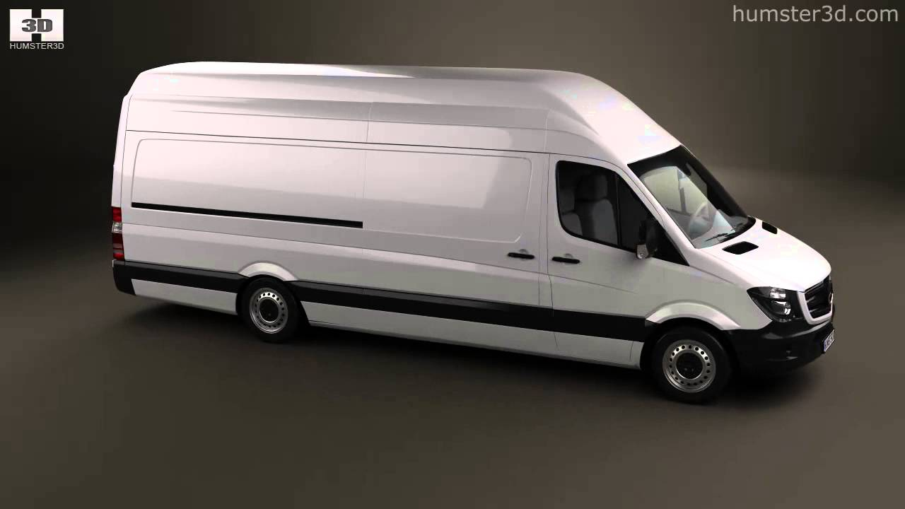 mercedes benz sprinter panel van elwb shr 2013 by 3d model. Black Bedroom Furniture Sets. Home Design Ideas