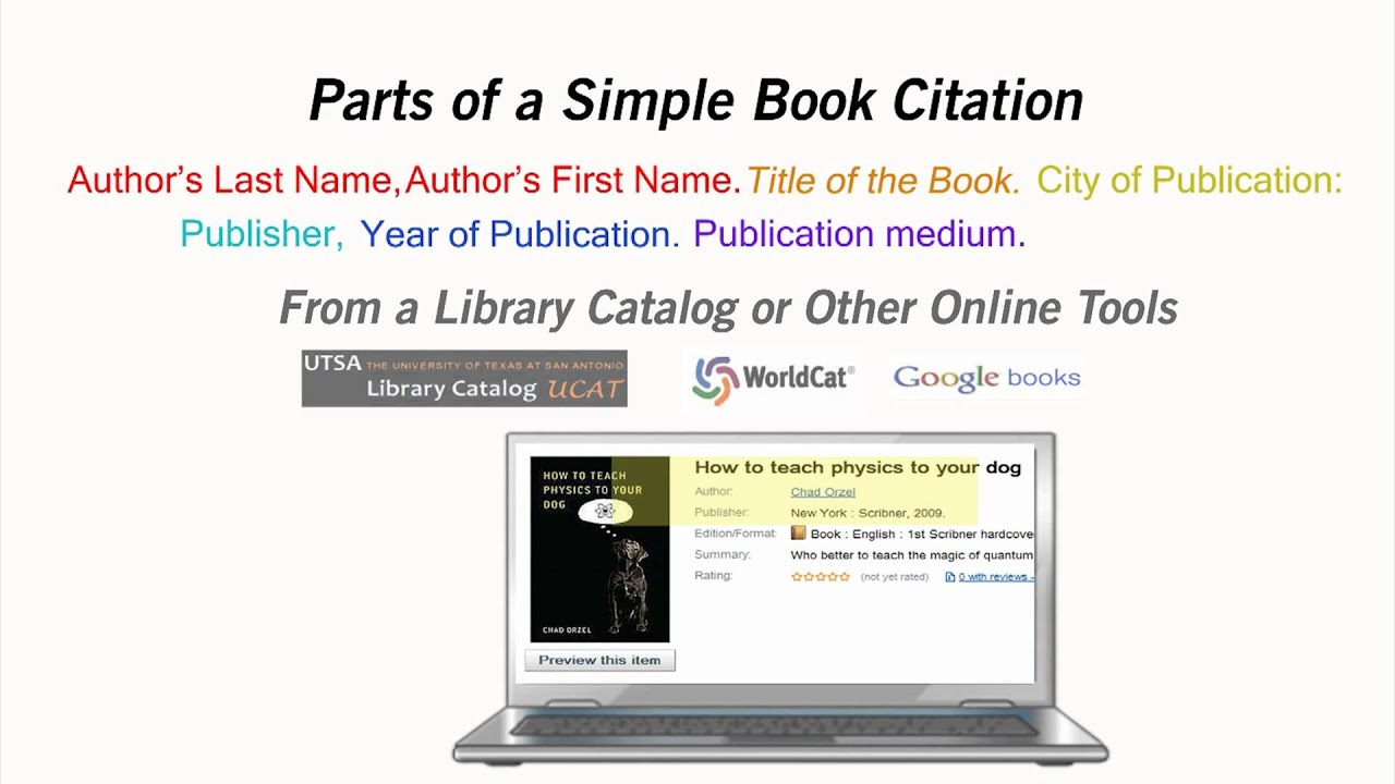 How to cite a book youtube how to cite a book ccuart Choice Image