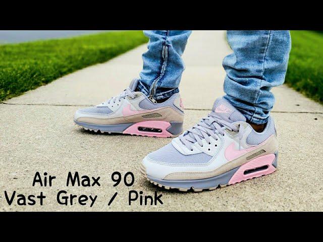 Air Max 90 Vast Grey / Pink Unboxing