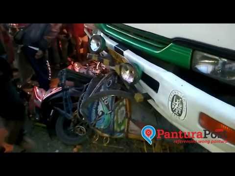 NGERI..!! Truk Kontainer Tabrak Pasar Induk Brebes yang Sedang Ramai Pedagang