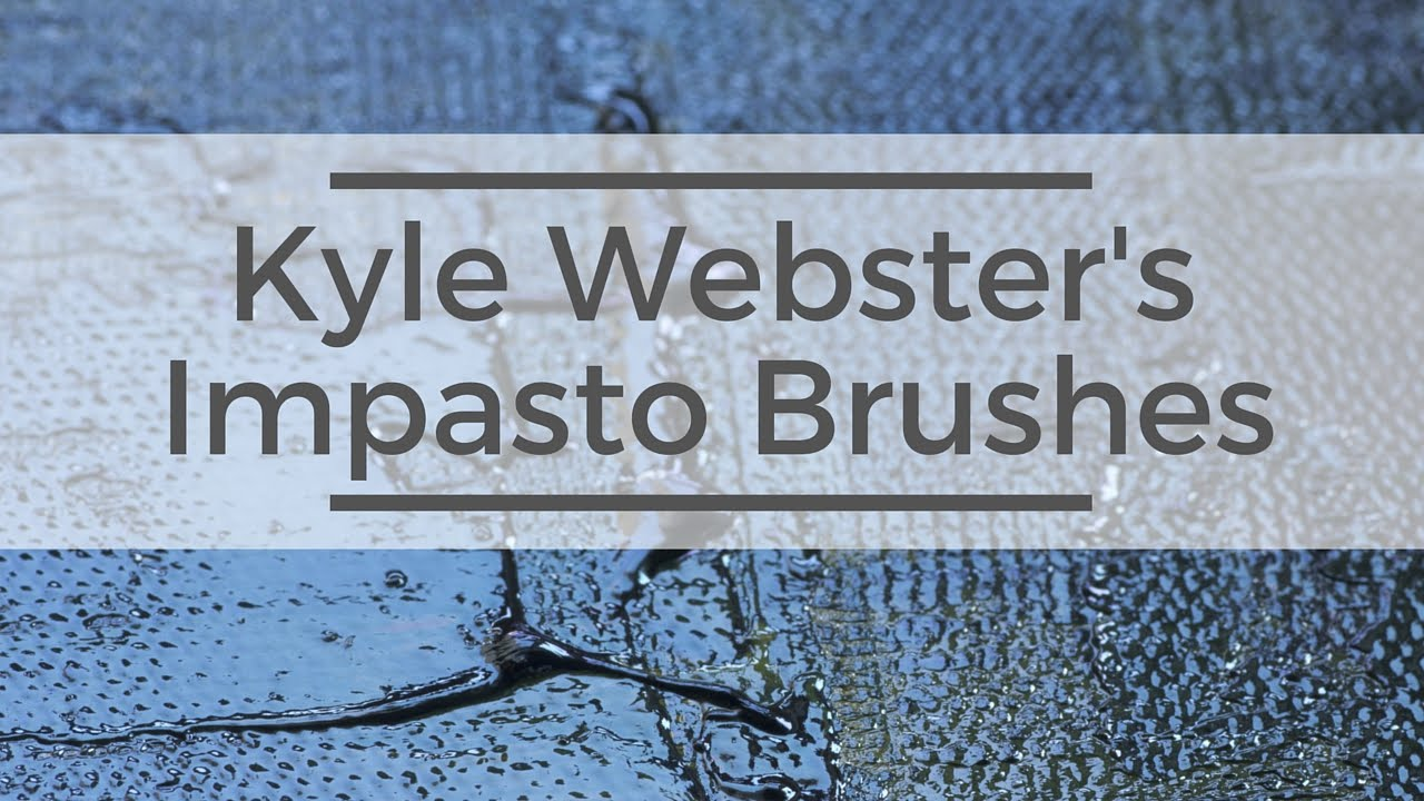 Kyle Webster's New Impasto Brushes Are Here!
