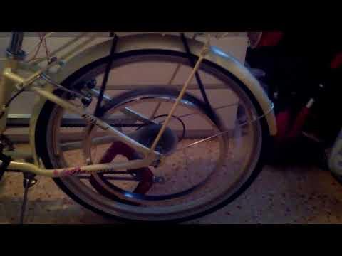 Electric bicycle from washing machine universal motor