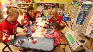 Ottawa Senators wives and girlfriends help make Valentine's Day cards at CHEO