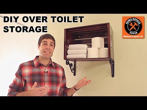 Custom Over the Toilet Storage -- by Home Repair Tutor