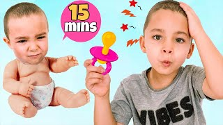 Funny pretend play stories for children with toys