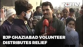 Farmers Protest: Local BJP Worker Distributes Relief At Farmers' Protest In Ghaziabad