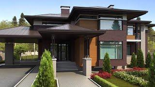 Архитектурный проект дома с большими окнами