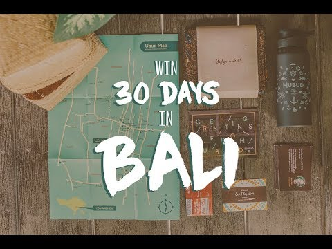 WIN A FREE TRIP TO BALI - Launch Your New Life #WorkandTravel