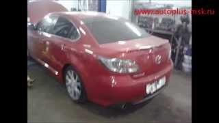 Ремонт и замена катализатора Mazda 6 2.5 на пламегаситель