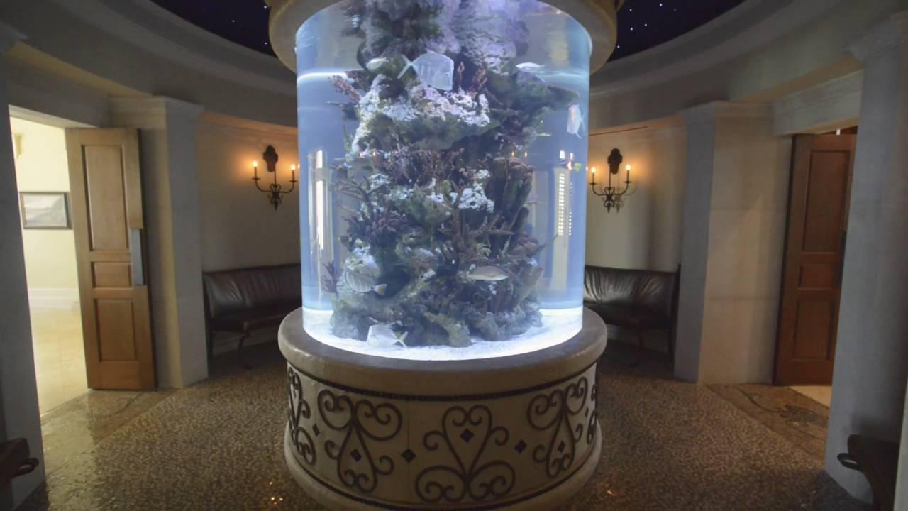 Mansion for Sale in Florida Custom Saltwater Aquarium