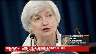 Nov.23 -- president-elect joe biden plans to nominate former federal reserve chair janet yellen serve as his treasury secretary, people familiar with the ...