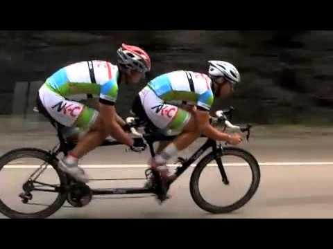 Australian National Road Tandem Champions on Calfee Bike with Fast Forward Wheels