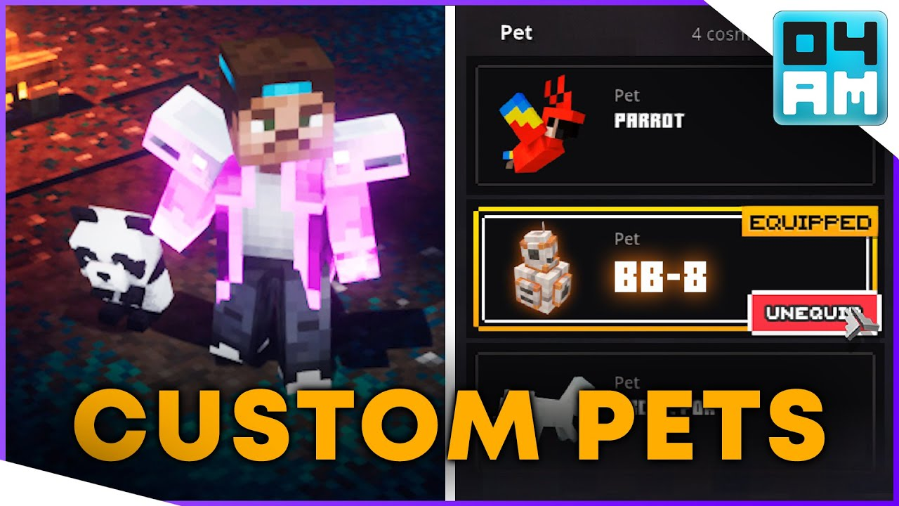 TOP 6 CUSTOM PETS in Minecraft Dungeons (The Best FREE Pet Mods