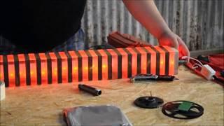 LED, acrylic, wood light DIY project