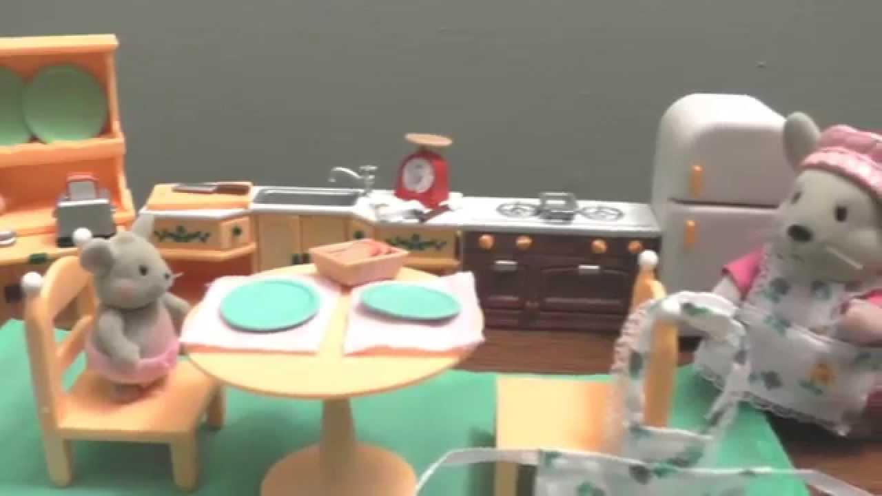 Calico Critters #1 ╫ Kitchen set ╫ - YouTube
