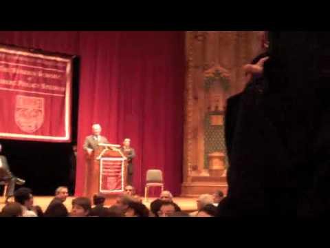 Protestors shut down Ehud Olmert speech at University of Chicago