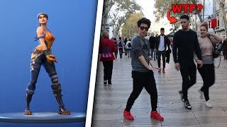 Dancing Fortnite Dances in the STREET devant beaucoup de gens!! - ReSet