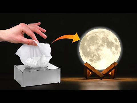 DIY Moon Lamp | Tissue Paper Craft Idea | Crafts Junction