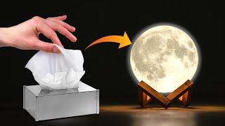 DIY Moon Lamp | Tissue Paper Craft Idea | Crafts Junction