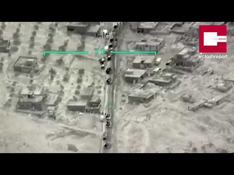 Տեսանյութ. Ասադի զորքերի շարասյանը հասցված ավիահարվածները