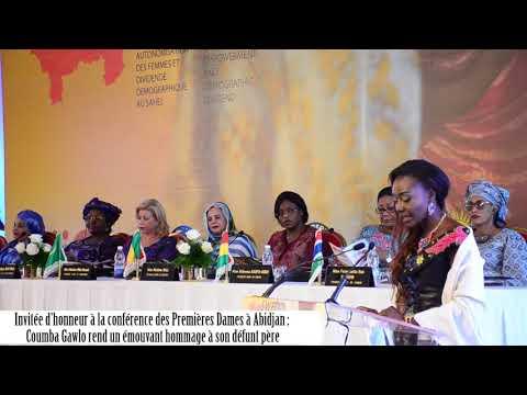 Hommage poignant de Coumba Gawlo à son défunt pére à Abidjan
