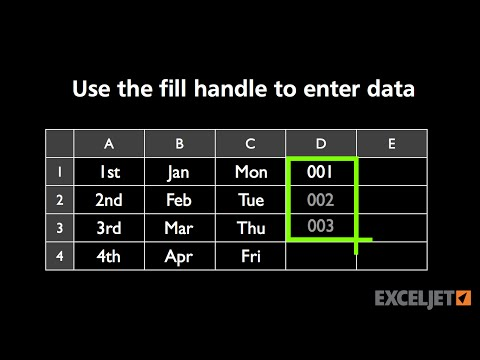 How to enter data with the fill handle