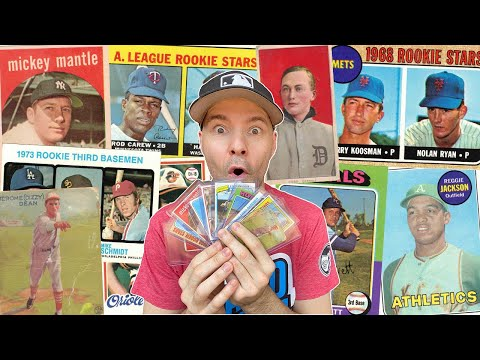 My Top 10 Baseball Cards -- All HOF'ers (8 Rookies), Ty Cobb, Mickey Mantle, Nolan Ryan And More!