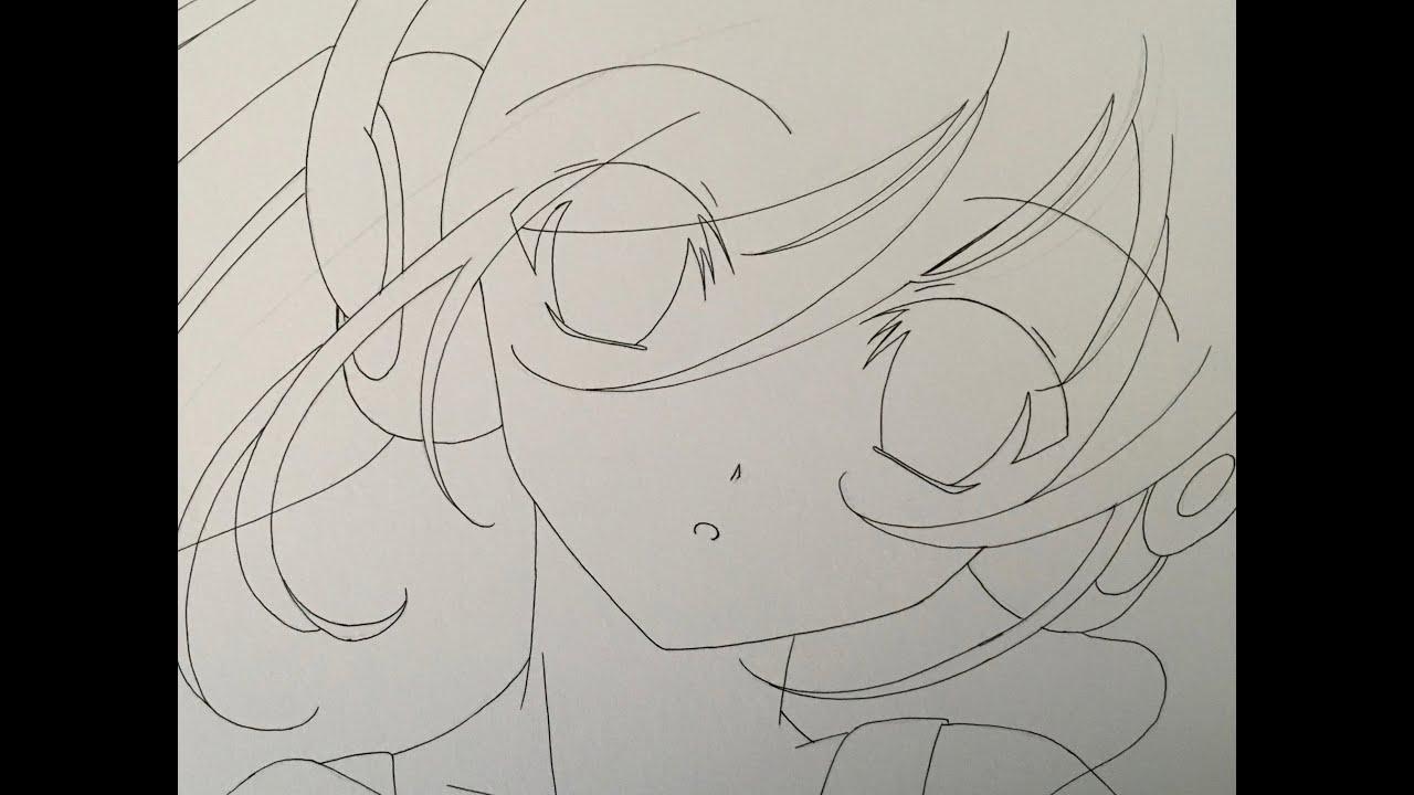 Drawing anime girl with headphones