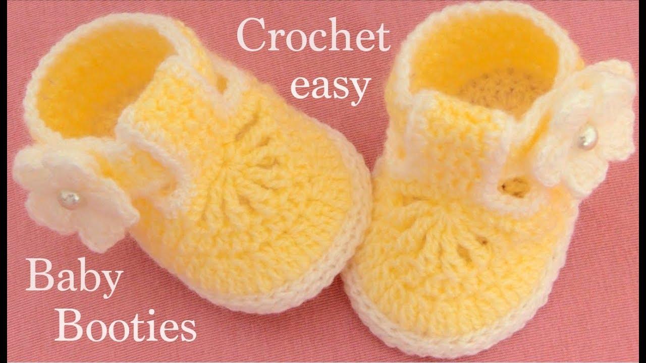 como hacer zapatitos de niña a crochet
