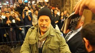 Bruce Willis after his first Misery Show on Broadway NYC