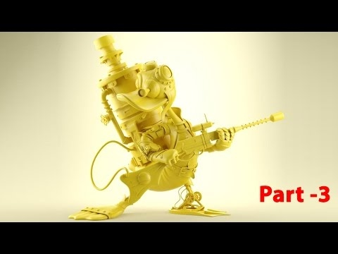 "ACB CARTOON TV #CGI 3D Tutorials HD: ""Donald Duck 3D Modeling"" by Jose manuel - Part 3"