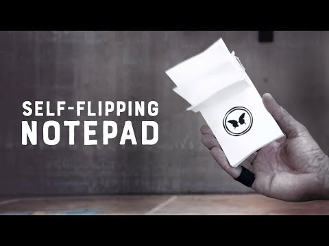 Self Flipping Notepad by Victor Sanz