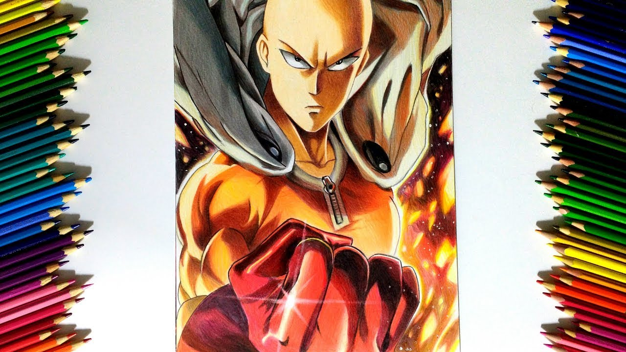 Drawing - Saitama ( One punch man ワンパンマン )