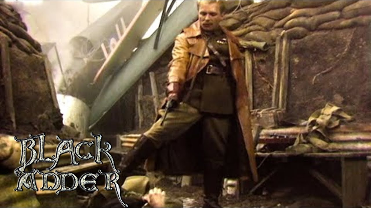 Captain Flashheart Crashes on Blackadder's Trench Scene
