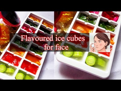 Flavoured facial ice cubes for summer | Summer treats