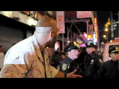 United States Marine Corps Brave Soldier OWS American Hero One Marine Wins VS Thirty NYPD Cops