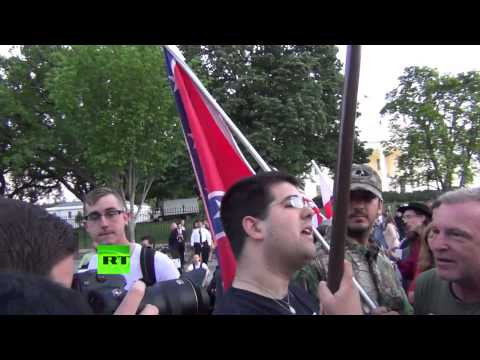 White Supremacists clash with May Day protesters in front of White House