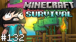 Minecraft : Survival - Part 132 - Stairs Can Make A Difference