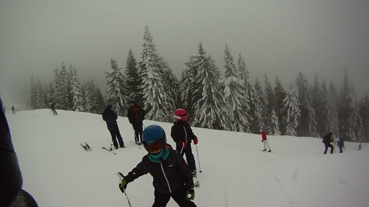 Download La schi in Poiana Brasov - coborare pe Partia Lupului (neagra) si Drumul Rosu (albastra)