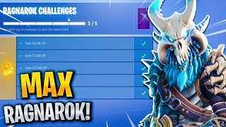 "RAGNAROK ""FULLY UPGRADED"" STAGE 5 UNLOCKED! Level 80 ""MAX RAGNAROK"" Fortnite Season 5 Tier 100 Skin"