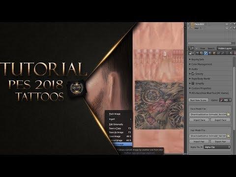 PES 2018 (TUTORIAL) - HACER TATUAJES CON BLENDER