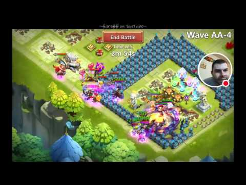 Castle Clash: HBM AA Victory! Full 1 Hour Live Stream!