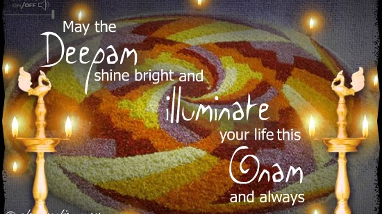 Onam Ecards Greetings Cards Wishes 07 03 Youtube