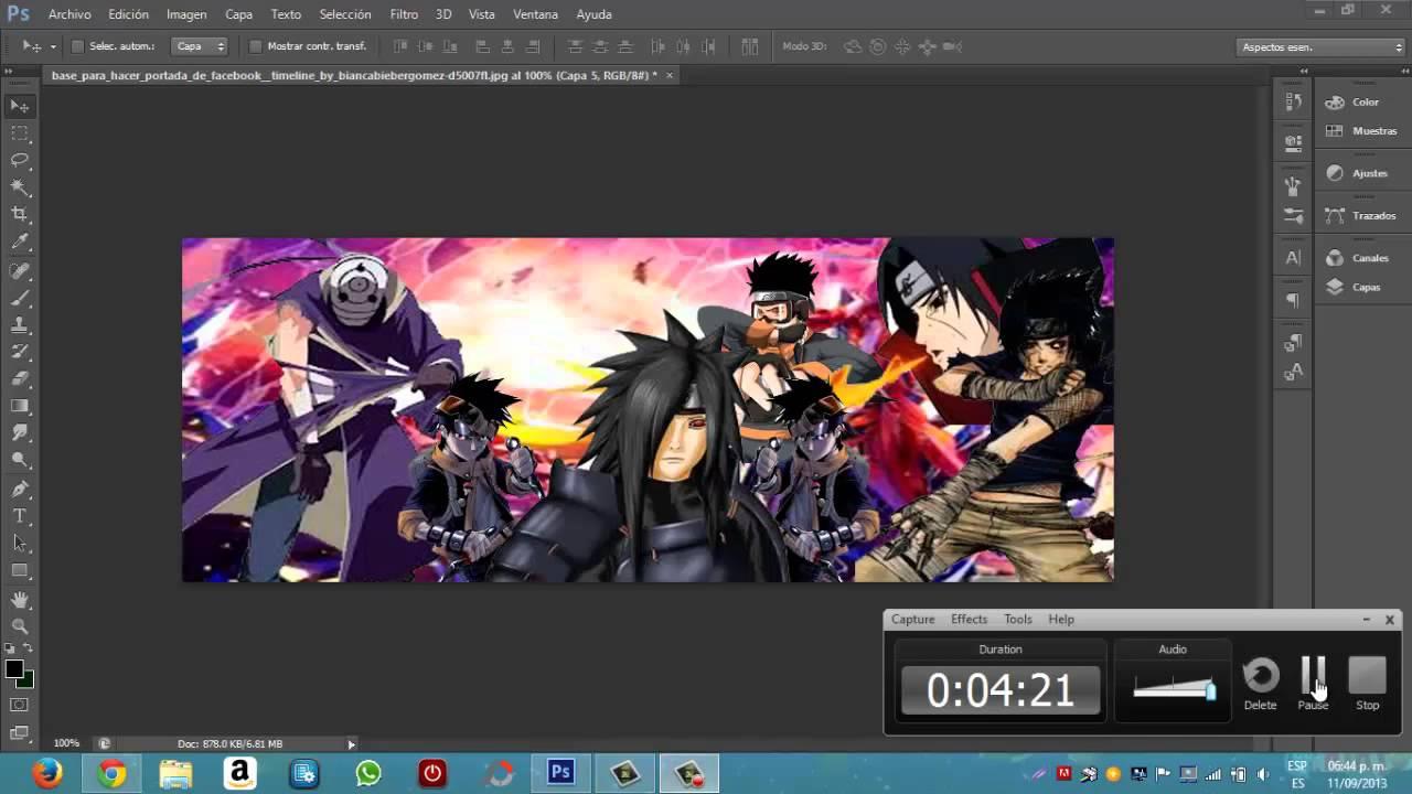 Tutoriales photoshop cs6 c mo hacer una portada para - Anime para fondo ...