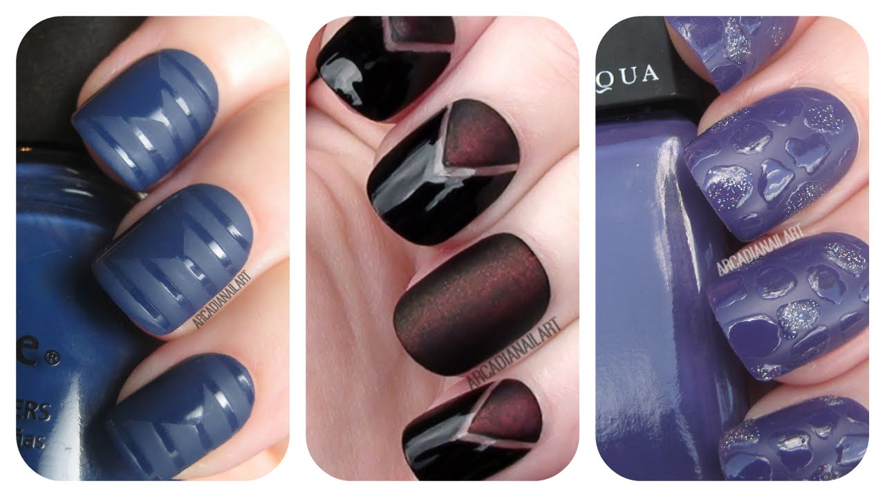 3 Matte Nail Art Tutorials Easy Nail Art For Beginners