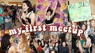 my first meet and greet (500 people)