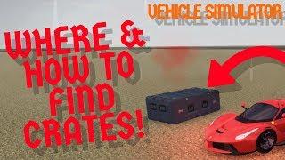 Wo & Wie man Kisten findet! | Roblox Fahrzeug-Simulator (Update)